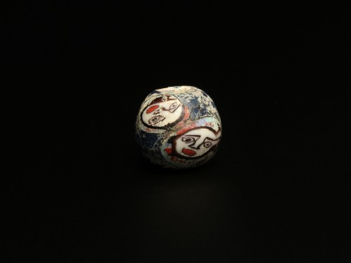 Roman Mosaic Glass Face Bead