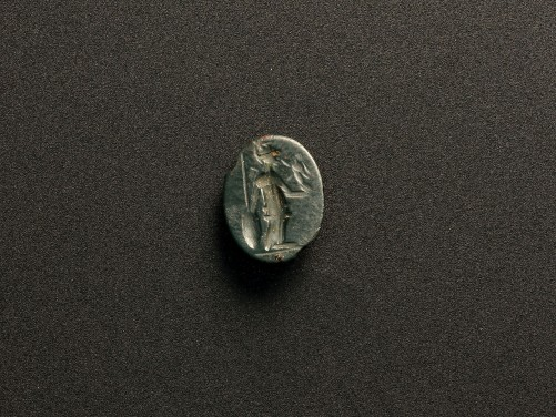Roman Serpentine Intaglio of Athena