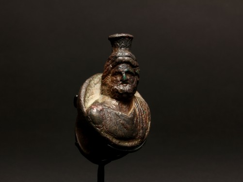 Massive Ring with Bust of Serapis