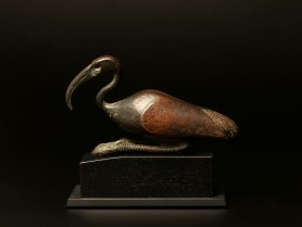 An Egyptian Bronze Ibis