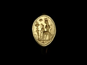 Ancient Gold Ring with Isis