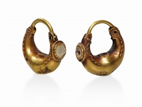 Pair of Greek Gold Earrings