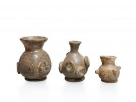 Three Islamic Glass Flasks