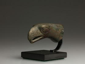 Roman Bronze Eagle Head Finial