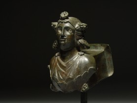 Roman Bronze Protome Bust of a Maenad