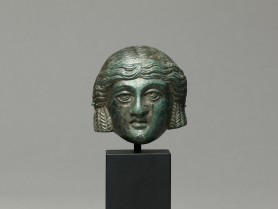Roman Bronze Theatre Mask