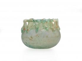 Roman Glass Jar with Threading