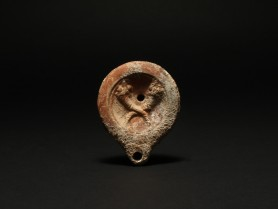 Roman Oil Lamp with Cornucopias