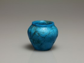 Egyptian Bright Blue Faience Jar