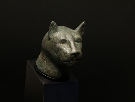 Egyptian Bronze Cat Head