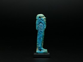 Egyptian Faience Plaque of Imsety