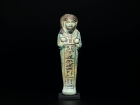 Egyptian Faience Shabti for Ren