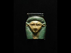 Egyptian Glass Hathor Fragment