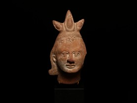 Terracotta Votive Head of Harpocrates