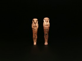Pair of Wax Shabtis for Iret-Hor-Erou