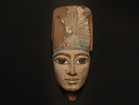 Egyptian Wood Mummy Mask