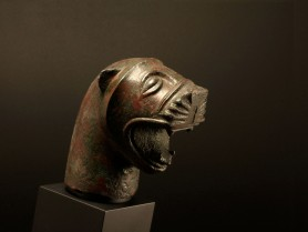 Etruscan Bronze Lion Head