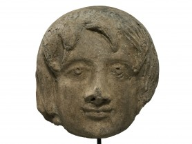 Etruscan Votive Head of a Youth