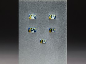 Five Mosaic Glass Falcon Inlays