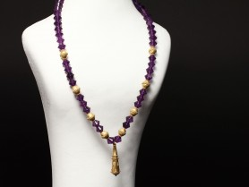 Greek Amethyst Bead Necklace
