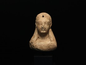 Greek Terracotta Female Protome