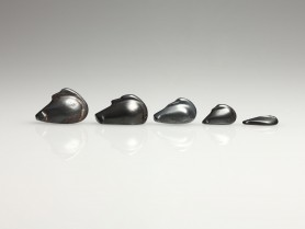 Five Hematite Duck Weights