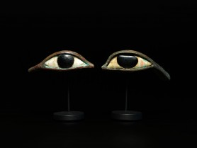 Pair of Egyptian Bronze Eyes