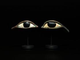 Pair of Egyptian Bronze Eyes