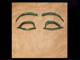 Large Egyptian Bronze Eyes and Brows