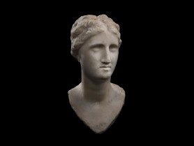Ptolemaic Marble Portrait Head of a Queen