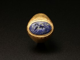 Ring with Sasanian Lapis Lazuli Intaglio