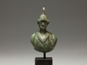 Roman Bronze Bust of a Warrior