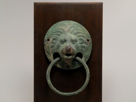 Roman Bronze Lion Head Handle