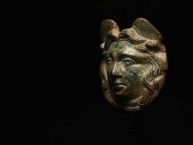 Roman Bronze Medusa Appliqué