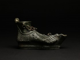 Roman Bronze Foot Oil Lamp
