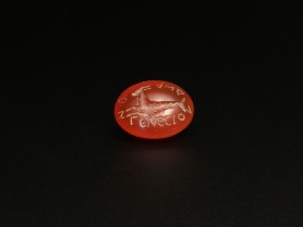 Roman Carnelian Intaglio with a Capricorn