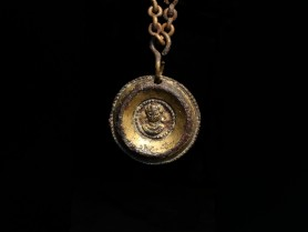 Roman Gilt-Bronze Medallion Pendant