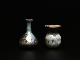Two Roman Glass Flasks