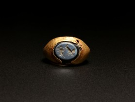 Roman Gold and Sardonyx Ring