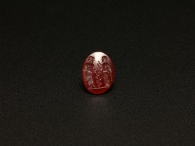 Roman Intaglio with Asclepius and Hygeia