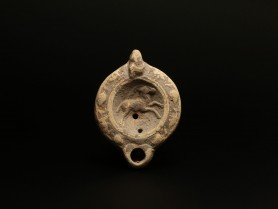 Roman Oil Lamp with an Ibex