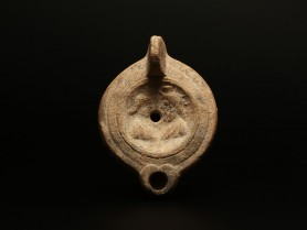 Roman Oil Lamp with Isis and Serapis