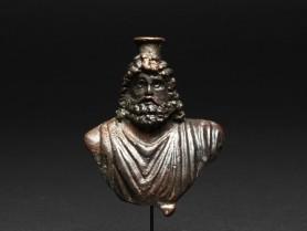 Roman Bronze Bust of Serapis