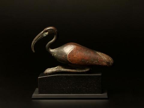 An Egyptian Bronze Ibis